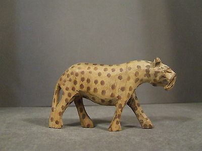 Vintage Small Hand Carved Cheetah