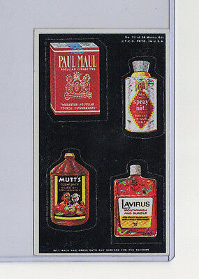 Vintage 1969 Topps WACKY PACKAGES ADS #21 Paul Maul Spray Nit Mutt's Lavirus