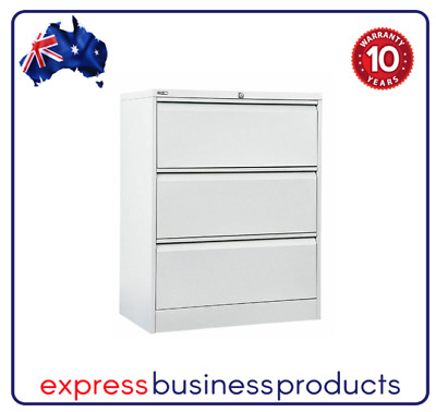 Lateral Filing Cabinet 3 Drawer Two Colours - GLF3