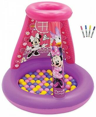 Disney Minnie Mouse Color N Play Activity Playland With 20 Balls And 4 Markers