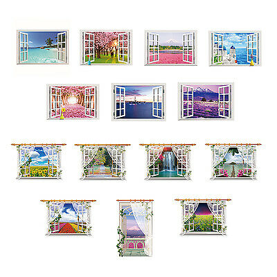 Removable 3D Window Scenery Wall Sticker home Decor Decals Mural Decal HY