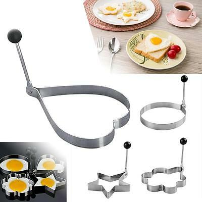 1PC Atainless Ateel Fried Fry Oven Poacher Pancake Poach Egg Ring Mould Maker A*