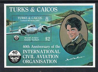 Turks & Caicos MNH 1985 The 40th Anniversary of International Civil Aviation M/S