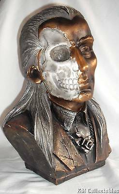 Dorian Gray Large Bronze and Silver Bust.Free P&P. Heavy Quality.Oscar Wilde