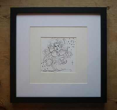 #2 Laurence Llewelyn Bowen-Superb Original Unique Pen & Ink Drawing-Celeb Art