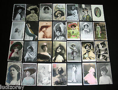 Lot C34 : 28 Cpa Miss Artiste Theatre Danse Spectacle Music-Hall Charme Actress