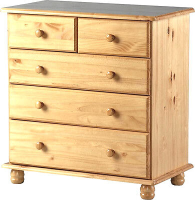 NEW Sol 3+2 Drawer Chest Antique Pine