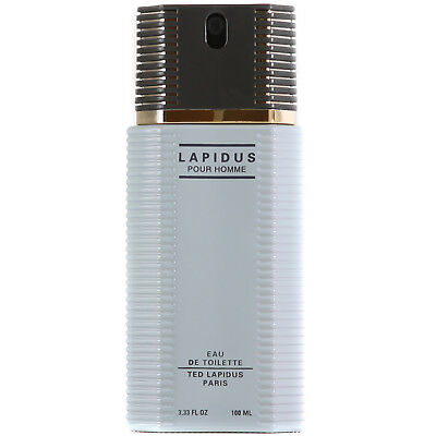 NEW Ted Lapidus Lapidus Pour Homme Eau de Toilette Spray 100ml FREE P&P