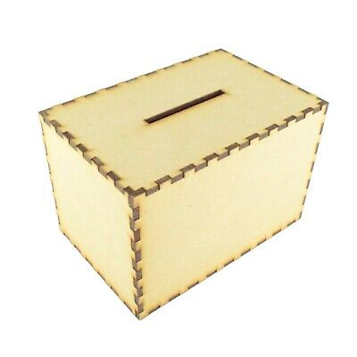 BUILD YOUR OWN Wooden MDF Money Box Savings Coin Bank Gift Travel - G118