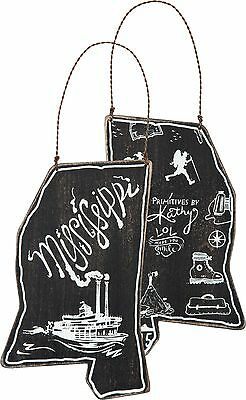 MISSISSIPPI Primitives by Kathy State Series Christmas Ornament
