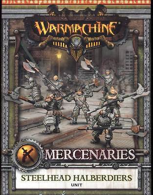 Warmachine Mercenaries Steelhead Halberdiers Unit Metal Box PIP 41108