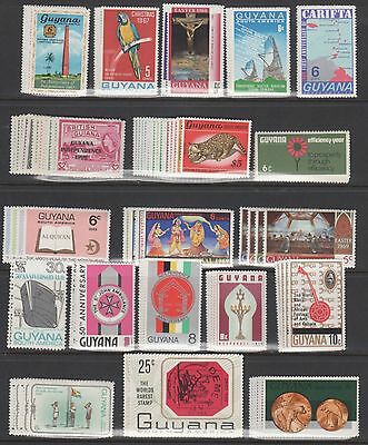 Guyana Stamp Collection #26//328 -- 61 Complete Sets -- 1967 -- Unused