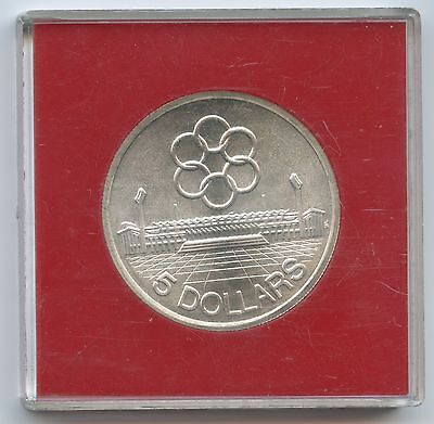 GS625 - Singapur 5 Dollars 1973 KM#10 Silber in Box 7th Asia Games Singapore