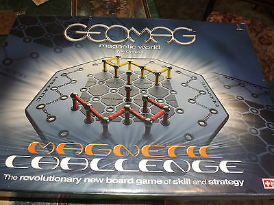 Geomag Magnetic Challenge Construction Original  Board Game Good Condition