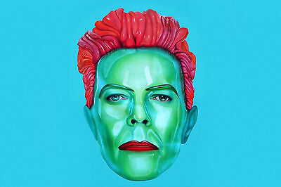 David Bowie Glossy Effect WALL ART CANVAS FRAMED OR POSTER PRINT