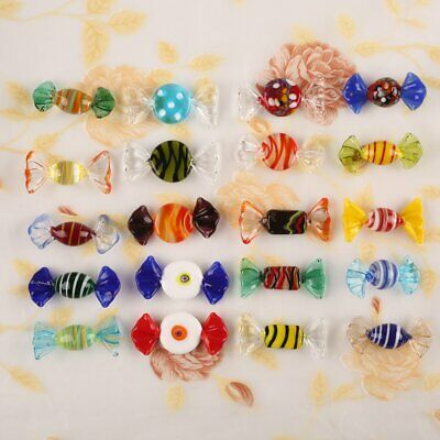 20pcs Vintage Colorful Glass Sweets Wedding Party Candy Christmas Decor Gift