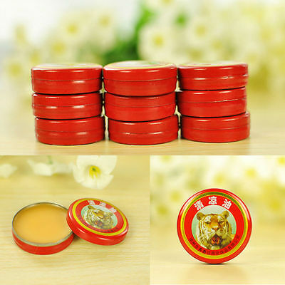 10pcs Tiger Balm Oil QingLiangYou Headaches Carsickness Itching Relief Ointment