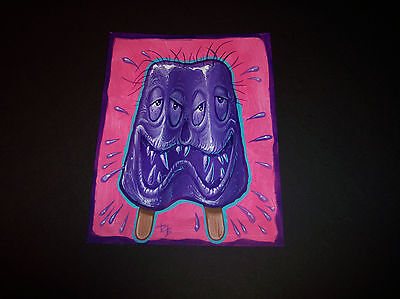 Dave Burke DB ORIGINAL ART ACRYLIC Painting Grape Popsicle Funny Fink monster
