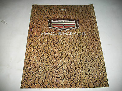 1969 Mercury Marquis/marauder Sales Brochure X-100 Brougham Cdn  Issue Clean