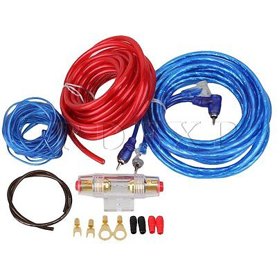 New 1500W 8GA Car Audio AMP Power Cable Subwoofer Amplifier Wiring & AGU Fuse