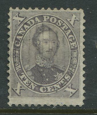 Canada 1859 10 cents Prince Albert violet used almost VF