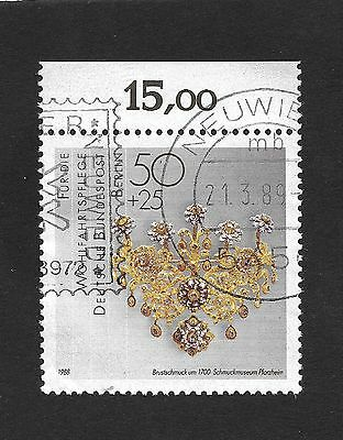German Stamp Berlin 1988 Charity - Art of Gold and Silversmiths 50+25 Pfg (X1)