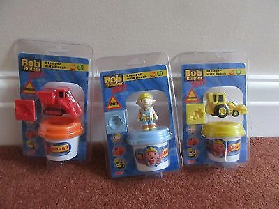 3 Bob the Builder Stamper with Dough sets