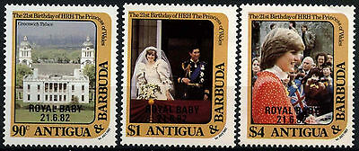 Antigua 1982 SG#757-9 Birth Prince William Of Wales MNH Set #D35964