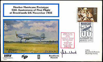 Brooklands Museum VAFA 03 Hawker Hurricane Signed Flight Cover #C38171