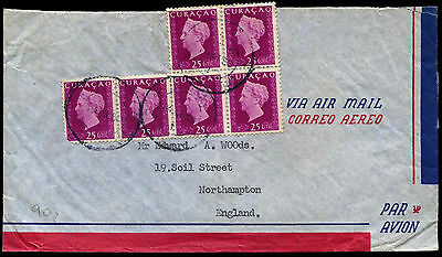 Curacao 1950 Airmail Cover To UK #C38258