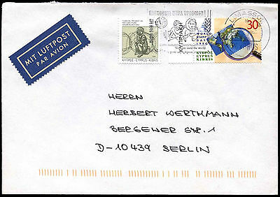 Cyprus 1998 Airmail Cover To Germany #C38263