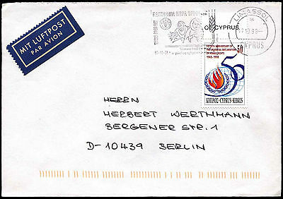 Cyprus 1998 Airmail Cover To Germany #C38262