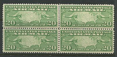 USA 1926 20 cents green Airmail block of 4 unmounted mint NH
