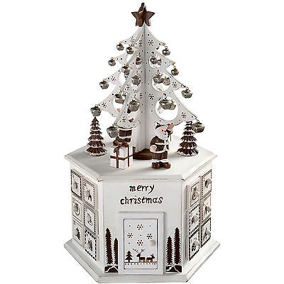 WeRChristmas Wooden Tree Advent Calendar Tower Christmas Decoration 36 cm - W...