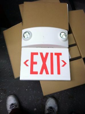 NEW STYLE Exit Sign with Emergency Lights, Hubbell Lighting - Dual-Lite, LTURWDI