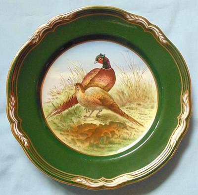 """Spode 9"""" Hand Painted Plate Pheasant From Game Birds Series"""