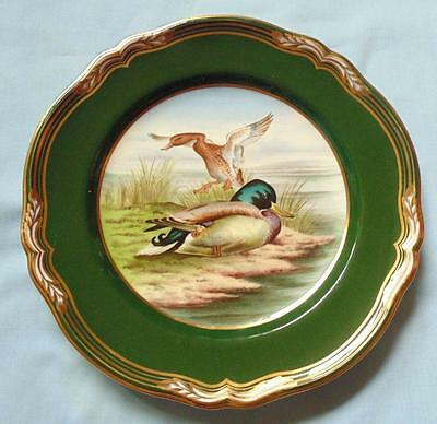 "Spode 9"" Hand Painted Plate Mallard Ducks From Game Birds Series"