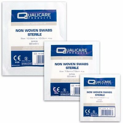 QUALICARE HIGHLY ABSORBENT NON WOVEN STERILE BLOOD SWABS Gauze Fabric Hospital