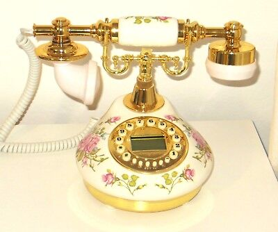 Birthday Gift for Mother Antique Telephone Victorian Style Ceramic Landline