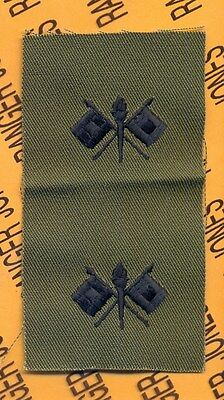 US Army Quartermaster Corps QM Branch OD Green /& Black sew on patch set