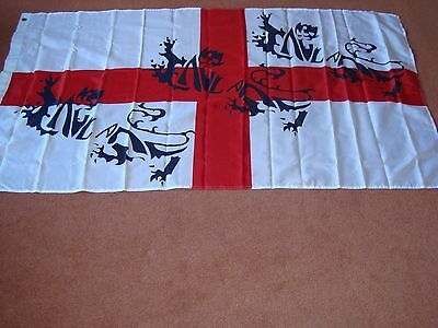 England 3 Lions Giant  Flag  5FT X 3FT
