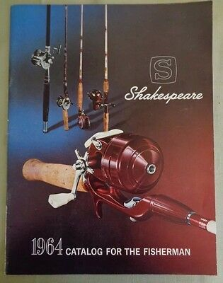 NICE VINTAGE 1964 Shakespeare FISHING RODS CATALOG