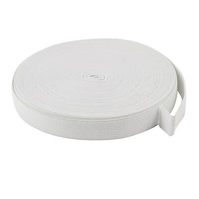 18mm x 12M White Braided Elastic Band Replacement for Tailoring Clothes HY