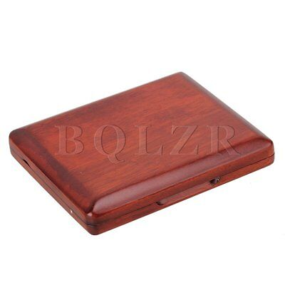 Wooden Bassoon Reed Case Holds 5PCS Reeds Protector With Soft Velvet Dark Red