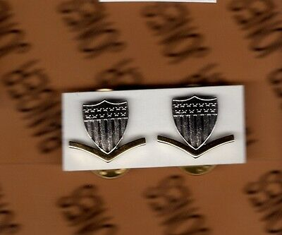 USCG Coast Guard E-4 Petty Officer 3rd Class PO-3 collar rank badge set