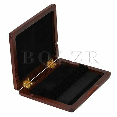 Maroon Wooden Oboe Reed Case Storage for 10 Reeds with Magnetic Closure