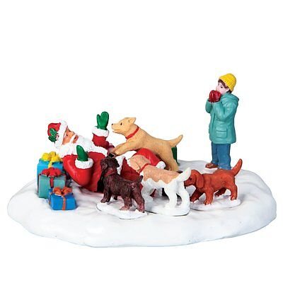 New Lemax Figurines Polyresin  Puppies Loves Santa New 2016