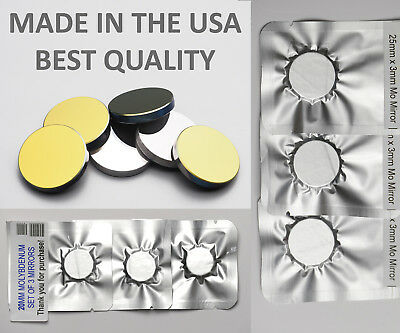 USA MADE CO2 laser mirrors Si Silicon Gold plated and Molybdenum 19mm 20mm 25mm