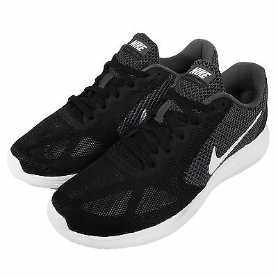 Wmns Nike Revolution 3 Grey Black White Womens Running Shoes Sneakers 819303-001