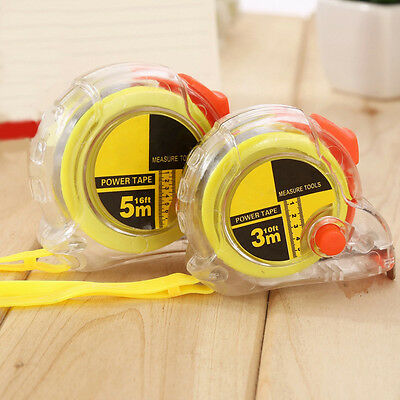 1PC Retractable Tape Measure Flexible Rule Line Band Tape Measuring Stationery